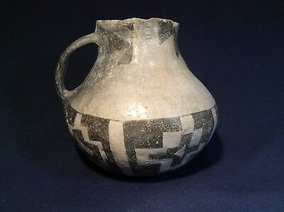 Large Chaco B/W Pitcher with Large Fire Cloud from Old Collection, Anasazi potte