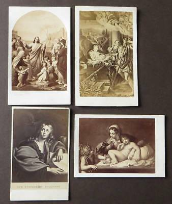 4 CDV Photos Catholic Religious Art - Bella Freres & Theme Panier, Paris, France