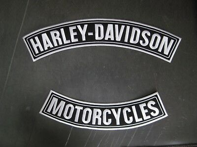 "HARLEY-DAVIDSON MOTORCYCLE LARGE ROCKER PATCH SET 15"" Ships International"""