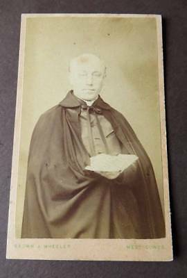 Isle of Wight WEST COWES CDV c1870s of Catholic Priest? by Brown & Wheeler