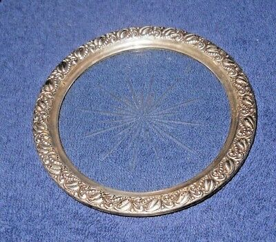 """Antique Sterling Silver .925 Wine Coaster 5"""""""
