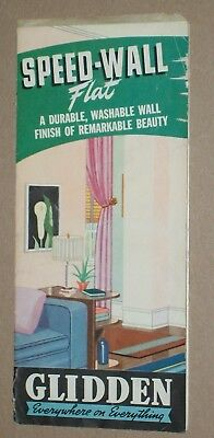 **vintage 1940 Glidden Company Flat Wall Paint Color Sample Booklet***