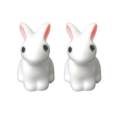 Synthetic Resin Hand-painted Mini Rabbit Ornament Miniature Figurine Model