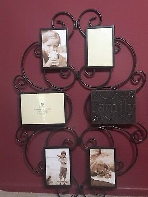 Wrought Iron Photo Frame Collage Wall Decor 4 Picture 3495