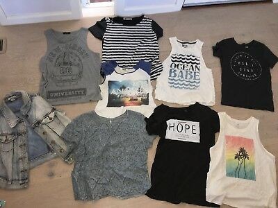 BULK LADIES TOPS SIZE 10/M Including Zara, Hollister, Cotton On, City Beach