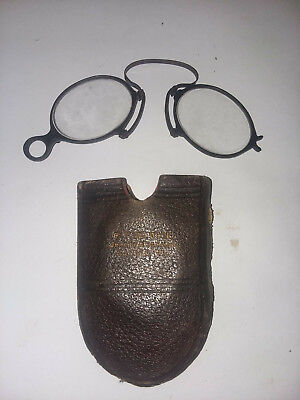 Antique Pinch Nose Glasses With Case