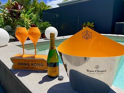 Veuve Clicquot Stainless Steel Ice Bucket.  Brand new. Rare Item. No Offers.