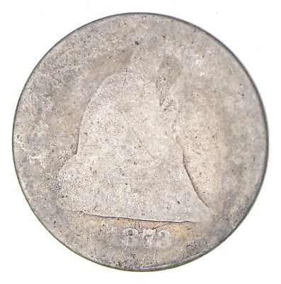 TOUGH - 1873 Seated Liberty Quarter - Early US Type Coin - Historic *162