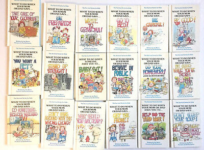 Lot 18 The Survival Series Books for Kids What to Do When Your Mom Or Dad Says