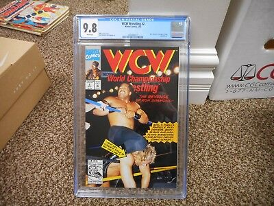 WCW Wrestling 2 cgc 9.8 Ron Simmons Lex Luger Sting cover photo WWF WWE Marvel