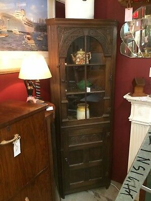 1920's Oak Arts & Craft Corner Unit
