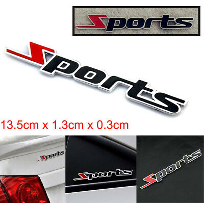 1pc Sports Emblem Badge Chrome Metal Car Sticker Logo 3D Decal Decol Word letter