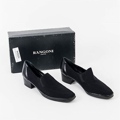 23521e19757 NEW Women s 9.5-B Rangoni Firenze Shoes ELVIRA Slip On Loafer Black w  Heel
