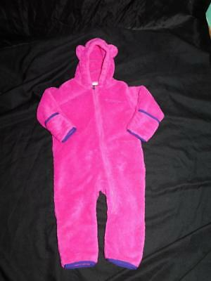 df63df244 COLUMBIA ONE PIECE Girls Size 12 18 Months Fleece Hooded Bunting ...