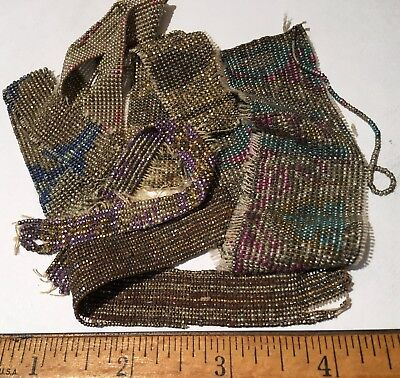 Antique French Cut Steel Bead Lot 1 Tiny Micro Metal Seed Purse Repair Jewelry