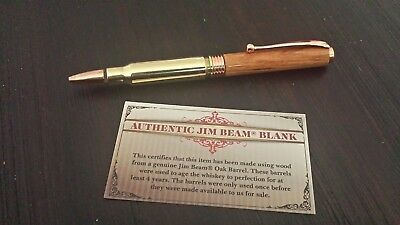 * NEW Jim Beam 308 Bullet Pen made with Jim Beam Barrel *