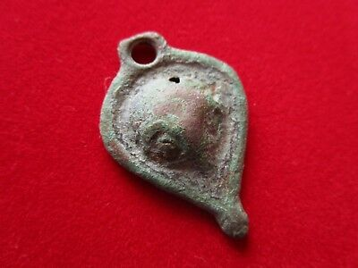 Ancient Celtic  DRUID Pendant - Amulet . the RAVEN HEAD IMAGE  . II century BC.