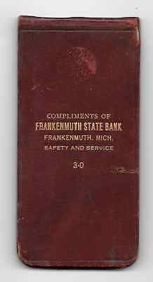 Leather-Covered Notebook, Frankenmuth State Bank, Frankenmuth, Michigan