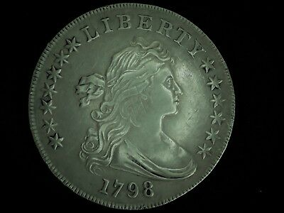1798 $1 Large Eagle Draped Bust Dollar, Excellent Condition