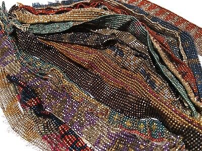 Antique French Cut Steel Bead Lot 2 Tiny Micro Metal Seed Purse Repair Jewelry