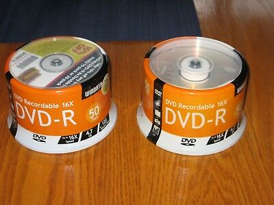 Windata 4.7 GB DVD-R 16X 120min (2) 50 Pack Sealed Discs NIB