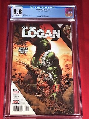 OLD MAN LOGAN 25 CGC 9.8 * DEODATO Cover & Art. *BRAND NEW CASE ** NO RESERVE**