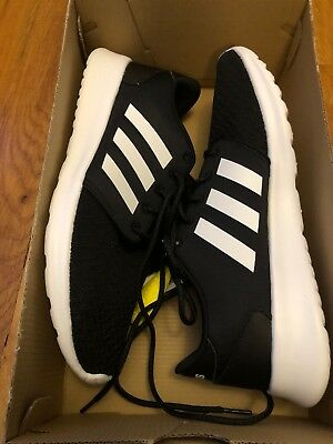 New Womens Adidas CF QT Racer Sneakers Black/White Size 9M