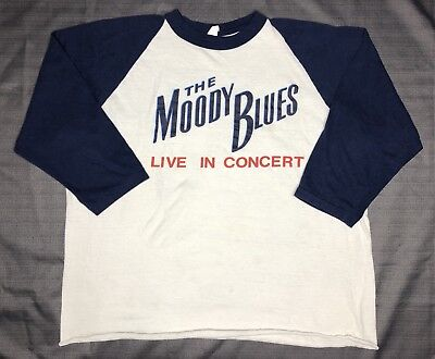 VTG 80s The Moody Blues Band Faded soft thin concert 2-sided t-shirt XL