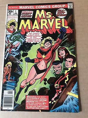 Ms. Marvel #1 (Jan 1977, Marvel) 1st Appearance.  New Captain Marvel Movie