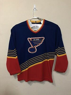 Vintage CCM St Louis Blues Jersey Extra Large Made In The USA Embroidered  Hocky f673dddfd