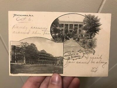 Antique UNIVERSITY OF ALABAMA - PRESIDENT'S MANSION Tuscaloosa college postcard