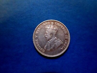 Straits Settlements 10 cents 1927 Great Britain (.600 SILVER) Lightly Circulated