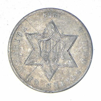 1859 Silver Three-Cent Piece - Trime - Circulated *093