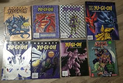 Beckett Yu Gi Oh Unofficial Collector Magazine Lot Of 8 + Offical Card catalog