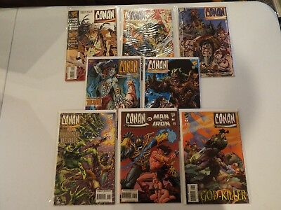 Lot of Eight Conan Vs. and misc comics