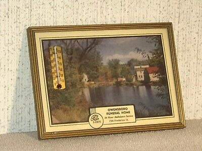 vintage advertising thermometer owensboro kentucky funeral home 1952