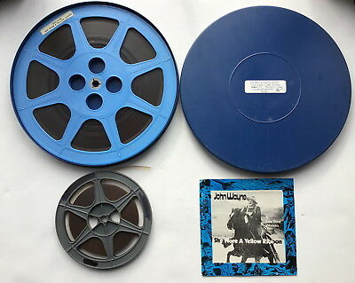 """Super 8mm Sound Film - She Wore A Yellow Ribbon - One 12"""" Reel & One 7"""" Reel"""