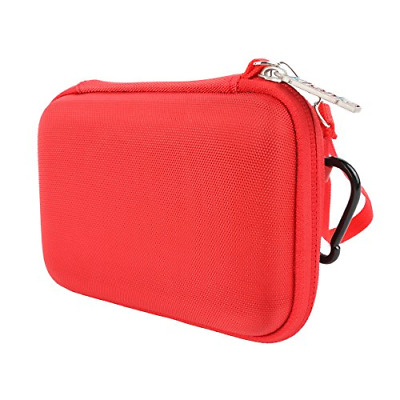 Hard Storage Carrying Travel Case Bag for Polaroid ZIP Red *New*