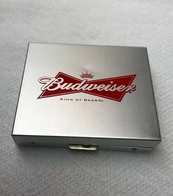 Budweiser Metal Dice & Storage Box Collectors King Of Beers Logo Set