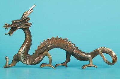 Unique Chinese Bronze Statue Sacred Dragon Mascot Home Decoration Gift
