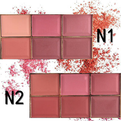 2PCS MISS ROSE 6-Color Eyeshadow Palette Professional Mineral Fashion Blush