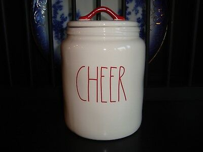 New! Rae Dunn Cheer Christmas Canister 2018