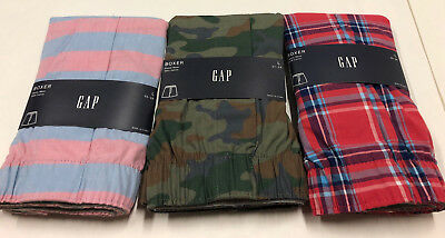 Nwt Mens Gap Boxers Boxer Shorts Large 35 -36 Waist Lot Of 3