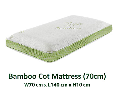 70cm Bamboo Cot Mattress Baby Kids Toddlers Breathable Anti Allergy Dust Mite
