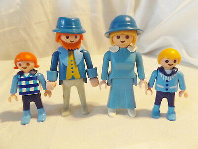 Playmobil Vintage Victorian Family of 4 for Mansion Dollhouse Figures, Man, Lady