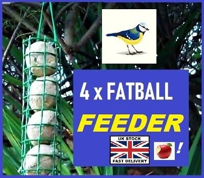 Fat balls Feeder ~ FREE POST ~ Low Price & Simple design & Holds 4 Fat Balls