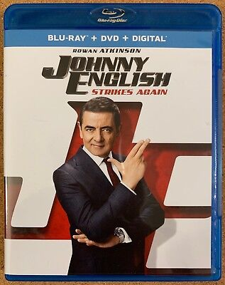 Johnny English Strikes Again Blu Ray 1 Disc Only Free World Wide Shipping Comedy