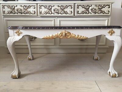 French Style Gold Decorated coffee table
