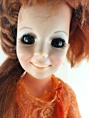 Crissy Doll 1969 Hair Grows Original Orange Outfit