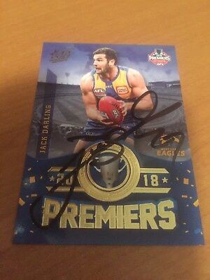 AFL Select Signed West Coast Eagles 2018 Premiers Card Jack Darling